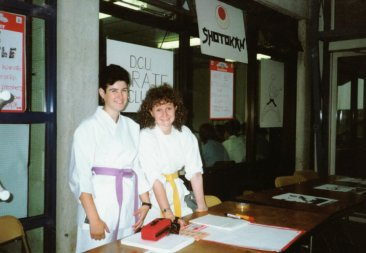 Yvonne, Aisling – DCU Freshers' Day 1989